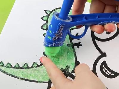 Como Colorear con Doh Vinci Play Doh a George Pig - DIY Colouring with Doh Vinci playdoh