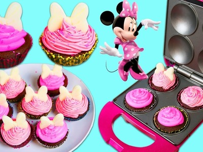 Disney Minnie Mouse Mini Cupcake Maker | Fun & Easy DIY Minnie Mouse Themed Desserts!