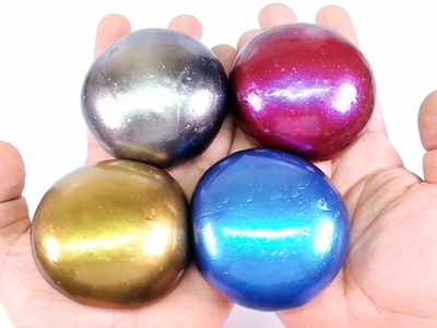 DIY Colors Steel Slime Putty ! Metal Slime Balls   MonsterKids