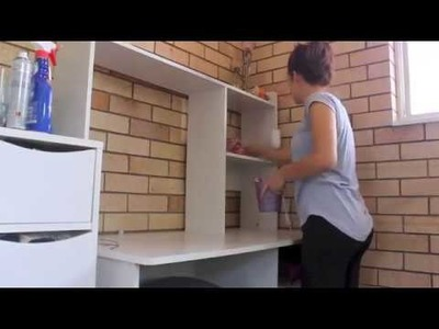 Desk Small Office Tour Diy Desk Charity Chanel My