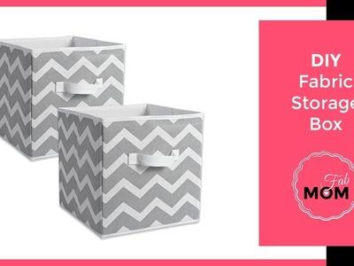 DIY fabric box. How to reuse old cardboard box. DIY storage box