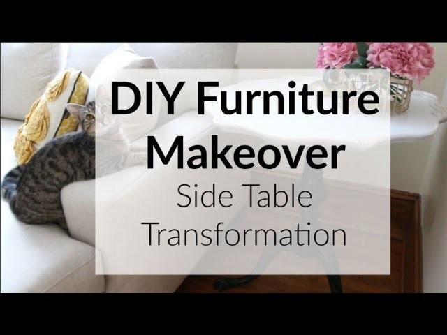 Diy Furniture Makeover Side Table Transformation My