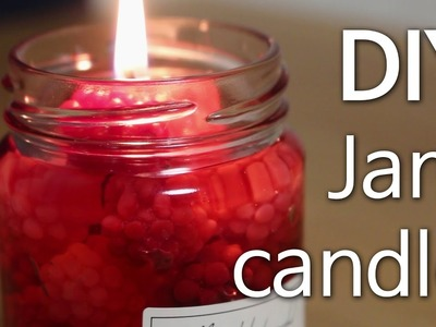DIY Jam Candle l How to make Gel Jam Candle