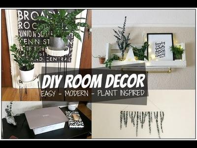 DIY ROOM DECOR IDEAS 2017 | TUMBLR + PLANT INSPIRED ROOM DECOR