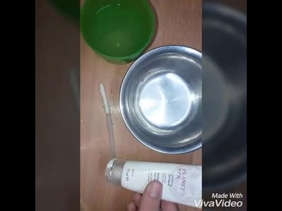 DIY Slime Without Glue! (Only Face Mask, Salt and Water)