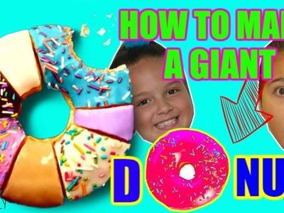 "DIY THE BIGGEST  DONUT "" ALISSON & EMILY """