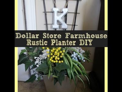 Dollar Tree.Dollarama Farmhouse Rustic Planter DIY