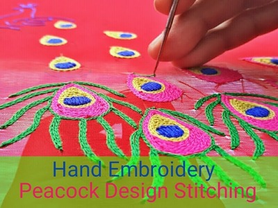 Hand Embroidery: Peacock design
