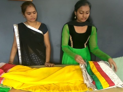 Hand made designer saree for party & wedding    In Hindi    STC : Sunita Tailoring Classes