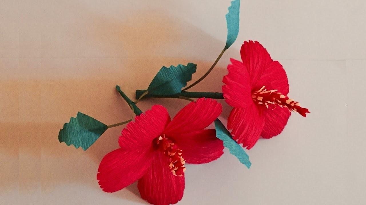 Hibiscus Crepe Paper Flowers Tissue Paper Hibiscus Flower Arts