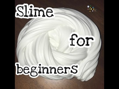 How to make slime for beginners! DIY slime with only 5 ingredients!