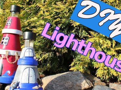 Lighthouse from flower pot | garden decoration | DIY