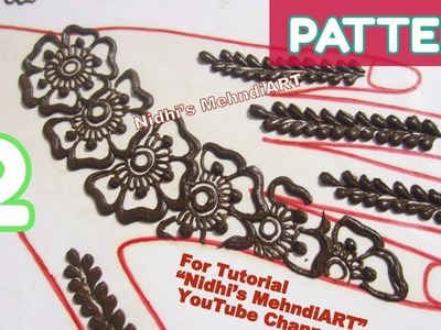 Pattern 2- Henna Designs Using Two Floral Elements- Easy DIY Mehndi Tips for Beginners