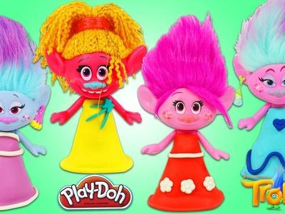 Play Doh Dresses Trolls DIY Outfits Poppy DJ Suki Satin and Chenille Fashion & Style!