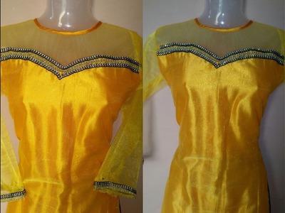 Princess designer kurti cutting and stitching DIY राजकुमारी डिजाइनर सूट