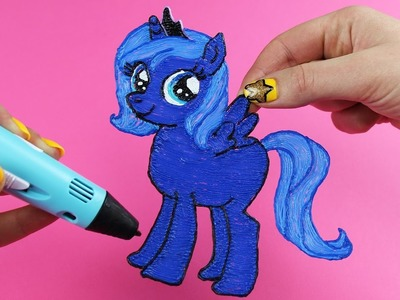 Princess Luna Child How to Draw with 3D PEN Without Sketch My Little Pony Video for Kids