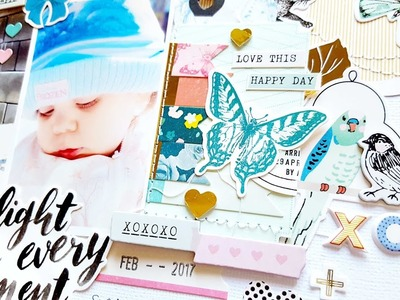 Scrapbooking Process- Hip Kit Club February 2017- Maggie Holmes Chasing Dreams