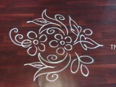 Simple and easy free hand rangoli designs | ugadi rangoli 2017, ugadi special muggulu,ugadi kolam