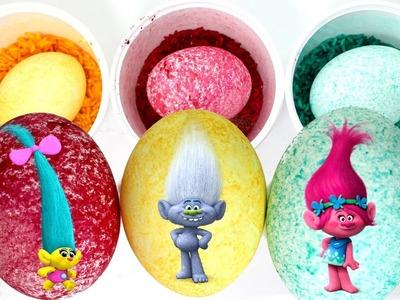 Trolls Easter Eggs - DIY Speckled Easter Egg Coloring