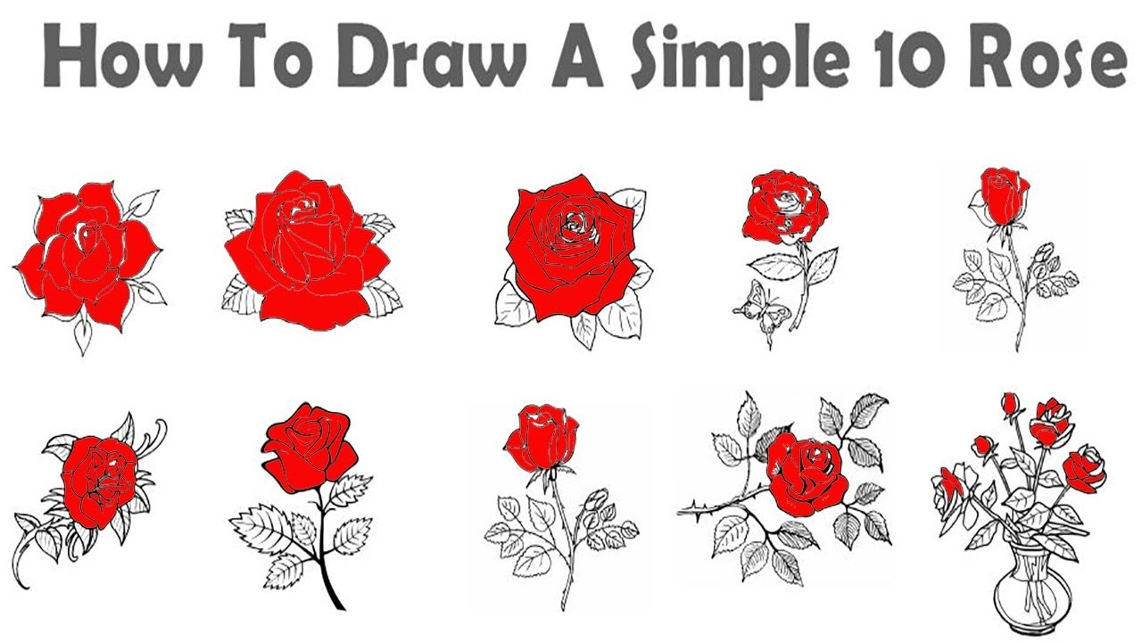 American duchess how to make a and easy 1920s pages for Easy rose drawing tutorial