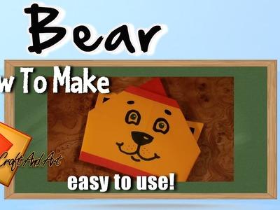 Bear. Origami bear.