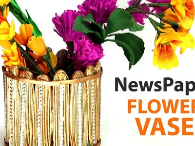 Best Out of Waste Craft - How to Make Flower Vase With Newspaper