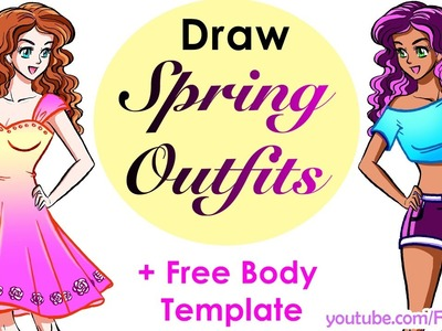 Design yourself: cute crop top, pretty dress   How to draw easy!