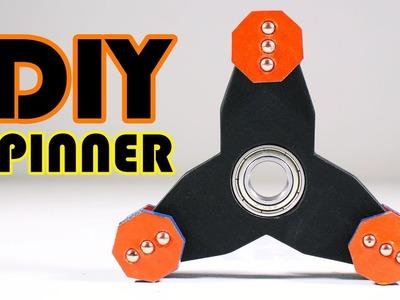 DIY Fidget Spinner From Cardboard