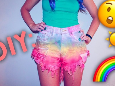 DIY: HIGH WAISTED TIE DYE SHORTS