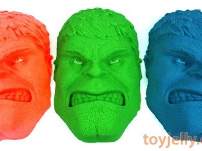 DIY How To Make Kinetic Sand Hulk Learn Colors Peppa Pig Play Doh Glitter Slime Giant Syringe Toy