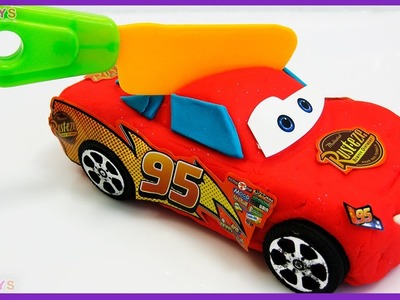 DIY How To Make Play Doh Lightning McQueen Disney Car Toy Movie for Kids Creative Modelling Play Doh