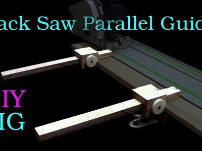 DIY JIG - Festool Track Saw Parallel Guide for Narrow Strips