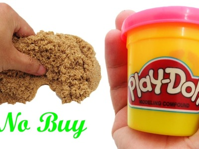 DIY Kinetic Sand with Play Doh, Sand, Glue, and Natri Borat at Home NO BUY