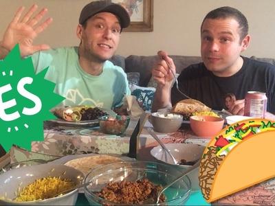 DIY *Meatless* Burrito Mukbang. Eat With Us!