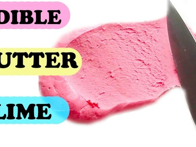DIY NO GLUE NO BORAX NON TOXIC EASY EDIBLE BUTTER SLIME RECIPE - SLIMEY SLIME TIME