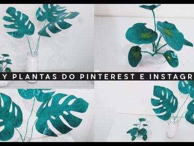DIY PLANTAS DE PAPEL | MONSTERA E PILEA | O Mundo de Mary