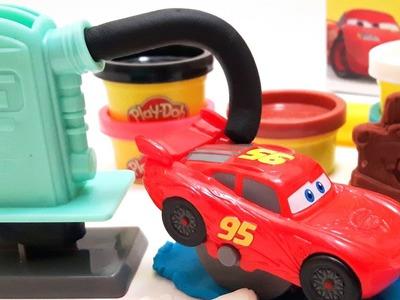 DIY Play Doh Cars 3 Lightning McQueen and Mater Create Play Doh Disney Pixar Cars Nursery Rhymes