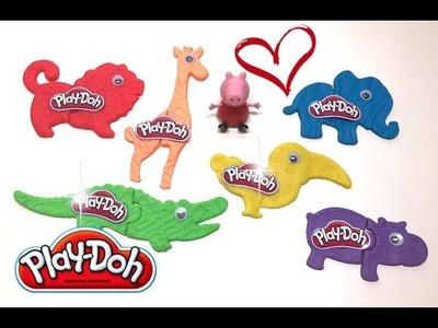 DIY Play-Doh Learn Make Animals Stamp Elephant Crocodile Hippo Toy Soda