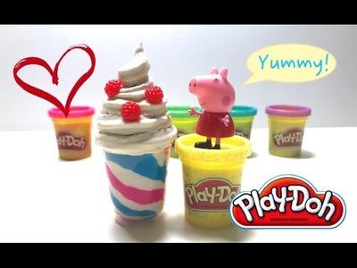 DIY Play-Doh Learn Make Strawberry Parfait Ice Cream Dessert Toy Soda
