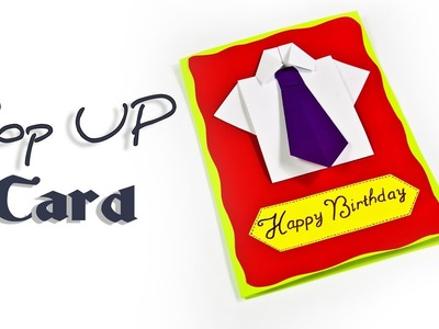 DIY- Pop up card | How to make a  Birthday Pop Up Card (Shirt & Tie)