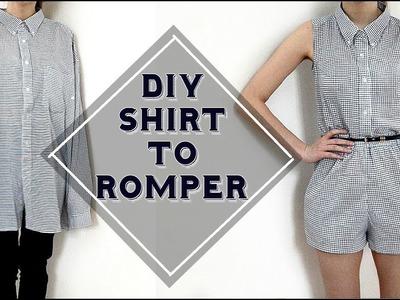 DIY romper from shirt. DIY overal z košele (SK,EN)