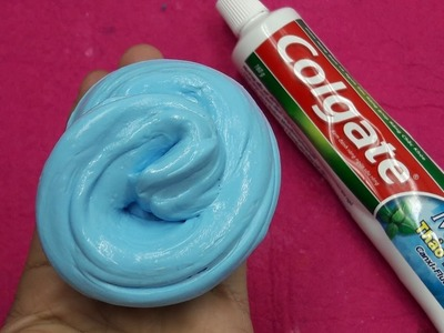Diy Slime Toothpaste Colgate Without Glue!!! How To Make Slime With Toothpaste Colgate and Salt Only