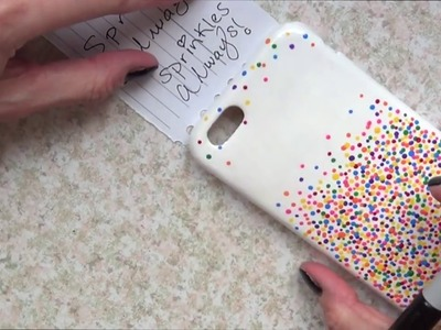 DIY Sprinkles Phone Case,mobile case cover with acrylic paints