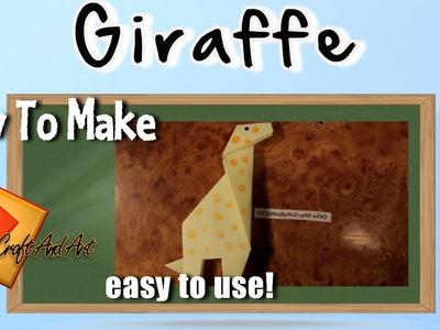 Giraffe. Giraffe origami easy