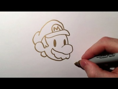 Gold sharpie how to draw cute mario drawing golden doodles simple easy for every