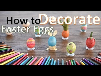 How To Decorate Easter Eggs with Only Colored Pencil DIY . ft. UnityStar 48 Colored Pencil