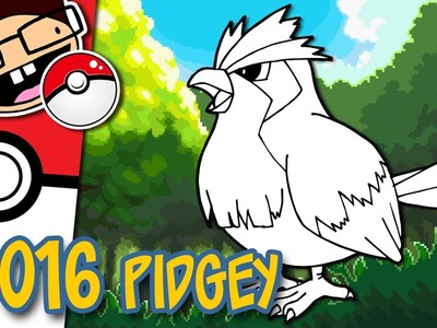How to Draw #016 PIDGEY | Narrated Easy Step-by-Step Tutorial | Pokemon Drawing Project