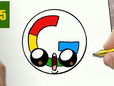 HOW TO DRAW A LOGO GOOGLE CUTE, Easy step by step drawing lessons for kids