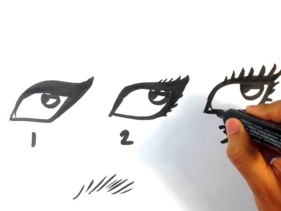 How to Draw Eyelashes - Easy Pictures to Draw