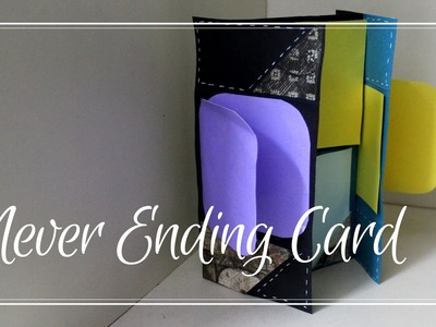 How to make Endless Card. Never Ending Card with Decoration  | Craft tutorial